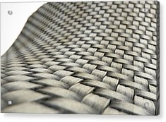 Micro Fabric Weave Dirty Acrylic Print by Allan Swart