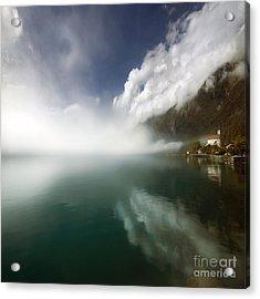 Misty Morning Acrylic Print by Angel Ciesniarska