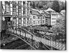 Monschau In Germany Acrylic Print by Jeremy Lavender Photography