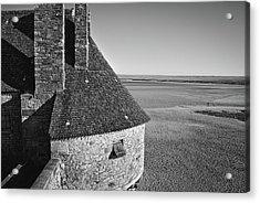 Acrylic Print featuring the photograph Mont-saint-michel France by Cendrine Marrouat