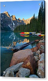 Moraine Lake Acrylic Print by Bernard Chen