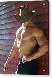 Muscle Art America Marius Acrylic Print by Jake Hartz