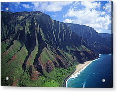 Na Pali Coast Aerial Acrylic Print by Bob Abraham - Printscapes