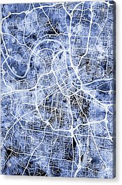 Nashville Tennessee City Map Acrylic Print