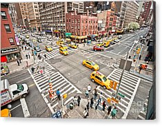 New York City Acrylic Print by Luciano Mortula