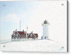 Nobska Light House Acrylic Print by Michael Petrizzo