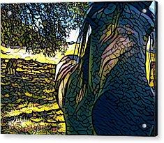 Nosey Belle Acrylic Print