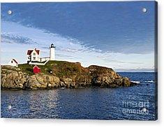 Nubble Lighthouse Acrylic Print by John Greim