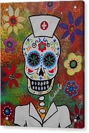 Nurse Dia De Los Muertos Acrylic Print