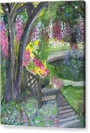 Oh How I Miss You Acrylic Print by Anne-Elizabeth Whiteway