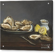 Oysters Acrylic Print by Edouard Manet