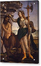 Pallas And The Centaur Acrylic Print by Sandro Botticelli