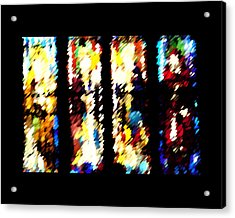 Acrylic Print featuring the digital art 4 Panels Of Seville Abstract by Donna Corless