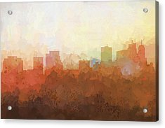 Acrylic Print featuring the digital art Parsippany New Jersey Skyline by Marlene Watson