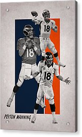 Peyton Manning Denver Broncos Acrylic Print by Joe Hamilton
