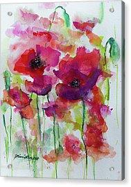 Poppies Acrylic Print by Dorina Costras
