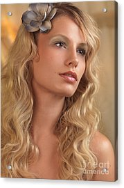 Portrait Of A Beautiful Young Woman Acrylic Print by Oleksiy Maksymenko