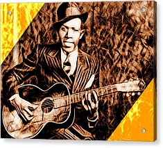 Robert Johnson Collection Acrylic Print by Marvin Blaine
