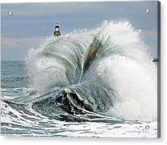 Roker Pier Sunderland Acrylic Print by Morag Bates