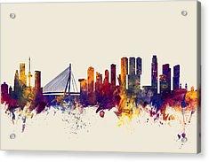 Rotterdam The Netherlands Skyline Acrylic Print