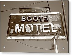 Route 66 - Boots Motel Acrylic Print by Frank Romeo