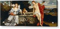 Sacred And Profane Love Acrylic Print by Titian