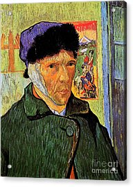Self-portrait With Bandaged Ear Acrylic Print by Vincent Van Gogh