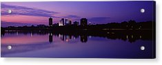 Silhouette Of Buildings Acrylic Print by Panoramic Images