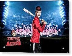 Acrylic Print featuring the digital art Southwest Aztecs Baseball Organization by Nicholas Grunas