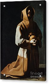 St Francis Of Assisi Acrylic Print by Granger