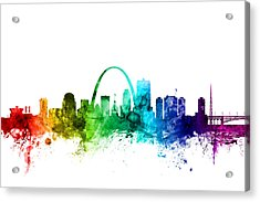 St Louis Missouri Skyline Acrylic Print by Michael Tompsett