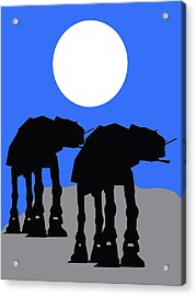 Star Wars At-at Collection Acrylic Print by Marvin Blaine