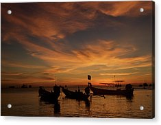 Sunrise On Koh Tao Island In Thailand Acrylic Print