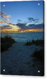 Sunset At Delnor Wiggins Pass State Park Acrylic Print