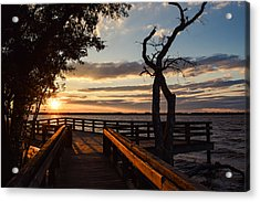 Acrylic Print featuring the photograph Sunset On The Cape Fear River by Willard Killough III
