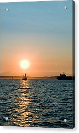 Sunset Sail Acrylic Print by Tom Dowd