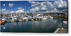 Sutton Harbour Plymouth Acrylic Print by Chris Day