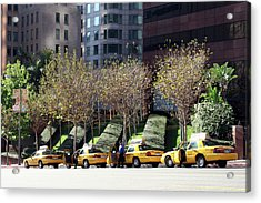 4 Taxis In The City Acrylic Print