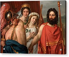 The Anger Of Achilles Acrylic Print by Jacques-Louis David