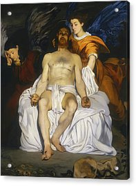 Acrylic Print featuring the painting The Dead Christ With Angels by Edouard Manet