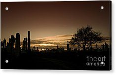 The Graveyard Acrylic Print by Angel Ciesniarska
