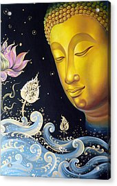 The Light Of Buddhism Acrylic Print