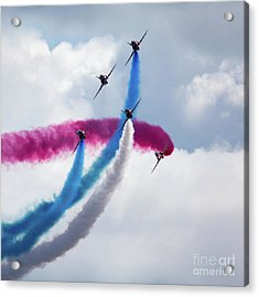 The Red Arrows Acrylic Print by Nichola Denny