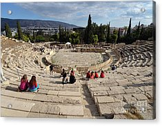Theater Of Dionysus Acrylic Print by George Atsametakis