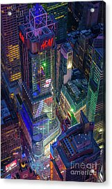 4 Times Square Acrylic Print by Inge Johnsson