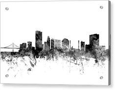 Toledo Ohio Skyline Acrylic Print by Michael Tompsett