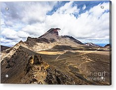 Tongariro Alpine Crossing In New Zealand Acrylic Print