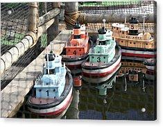 4 Toy Boats Acrylic Print