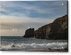 Acrylic Print featuring the photograph Trevellas Cove Cornwall by Brian Roscorla