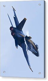 Us Navy Blue Angels Poster Acrylic Print by Dustin K Ryan
